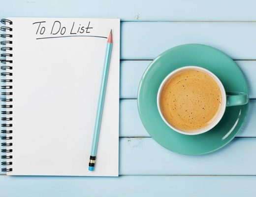 to do list, coffee, time