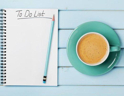 to do list, coffee, time